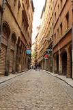 Old streets in Lyon, France Royalty Free Stock Image