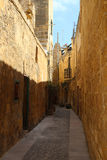 Old streets, Malta. Narrow old streets in historical area, Malta Stock Photo