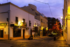 Old streets at Merida in dawn Stock Photography