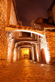 Old streets night in Tallinn. Estonia. Europe Stock Images