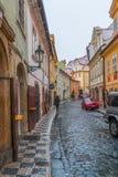 Old Streets of Prague next to Carles bridge Royalty Free Stock Image