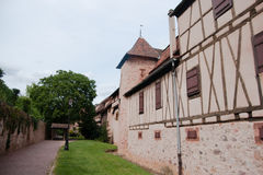 Old streets in Riquewihr town Stock Photography