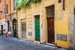 Old streets of Rome, Italy Stock Photo
