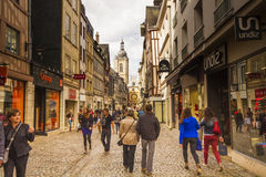 Old streets in Rouen Royalty Free Stock Photography