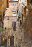 Old streets of Siena, Italy, Europe Stock Photography