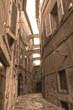 Old streets of Siena, Italy, Europe Royalty Free Stock Photos