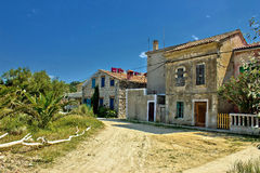 Old streets of Susak island Royalty Free Stock Photos
