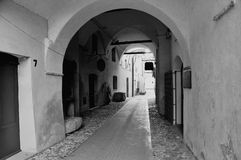 Old streets in Toirano royalty free stock image
