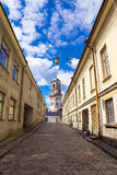 Old streets of Vyborg, Russia Stock Images