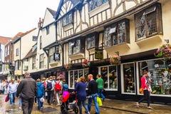 Old streets of York, England, United Kingdom. Old streets of York in England, United Kingdom Stock Images