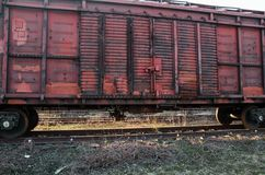 An old railway carriage of a train royalty free stock images
