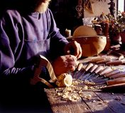 Old stringed instruments maker. Old italian stringed instruments maker Stock Photography