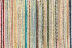 Old striped fabric closeup Stock Photography