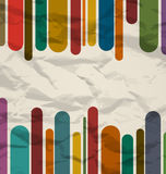 Old striped template, colorful vintage background Royalty Free Stock Image