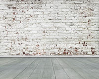 Free Old Stripped Bricks Wall With Green Wooden Floor Royalty Free Stock Photos - 75175798