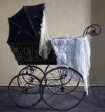 Old stroller. Historical pram. Stock Images