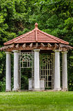 Really old structure Gazebo at the Longview Farm Mansion. This beautiful landscaping is on the estate of the Longivew Farm and Mansion in Lees Summit Missouri Stock Photo