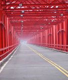 The old structure of red bridge Royalty Free Stock Photography