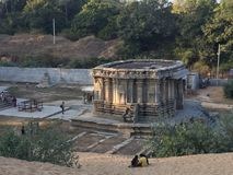 An old structure of Sri Keerthinarayana Temple at Talakadu, Karnataka. Discovered after digging it out deep from sand dunes Royalty Free Stock Image