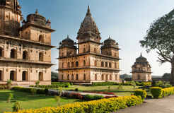 Old structures with stone domes in indian Orchha. Cinotaphs was built in 17th century in India Stock Images