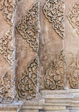 Old stucco pattern in the traditional Thai style. Royalty Free Stock Images