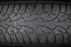 Old studded tire Royalty Free Stock Photo