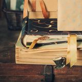 Old Stuff, boxes with Memories, toned Royalty Free Stock Photo
