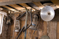 Old stuff in the shed Royalty Free Stock Photography