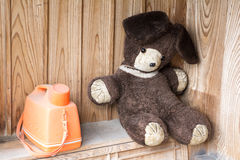 Old stuffed bear Royalty Free Stock Images