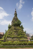Old stupa made of stone in  laos Royalty Free Stock Image