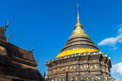 Old stupa pagoda in wat pra that lampang luang at lampang Thailand Stock Images
