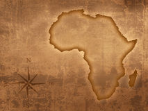 Old style Africa map Stock Photography