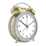 Old style alarm clock isolated on white. 3D Royalty Free Stock Image