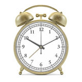 Old style alarm clock isolated on white. 3D Royalty Free Stock Photos
