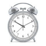 Old style alarm clock isolated on white. 3D Stock Images