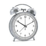 Old style alarm clock isolated on white. 3D Royalty Free Stock Photo