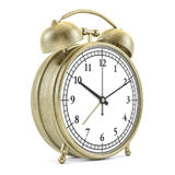 Old style alarm clock isolated on white. 3D Stock Photos