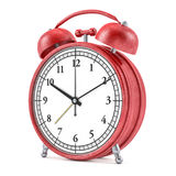 Old style alarm clock  on white. 3D. Rendering Stock Image
