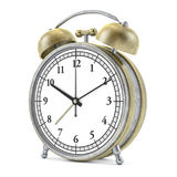 Old style alarm clock  on white. 3D Stock Photography