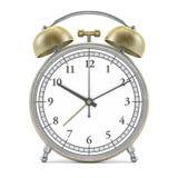 Old style alarm clock  on white. 3D Stock Photos