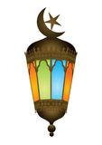 Old style arabic lamp with moon crescent Royalty Free Stock Photo