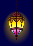 Old style arabic lamp for ramadan / eid. Illustration
