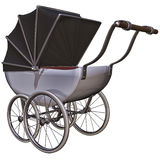 Old style baby pram Royalty Free Stock Photo