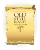 Old style banner Stock Images