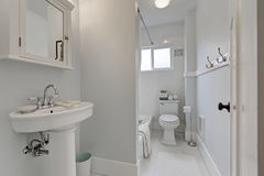 Old style bathroom interior in small American house Royalty Free Stock Photo