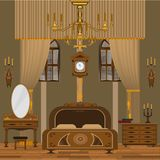 Bedroom interior vector illustration