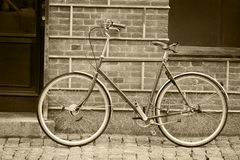 Old style bicycle Stock Photos