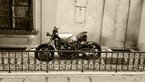 Old style bike. A bike in one of the streets of Vienna,Austria Stock Image