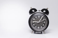 Old style Black Alarm Clock Stock Photo