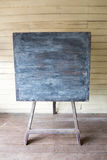 Old style blackboard. In a ancient classroom with wooden bright wall Stock Photo